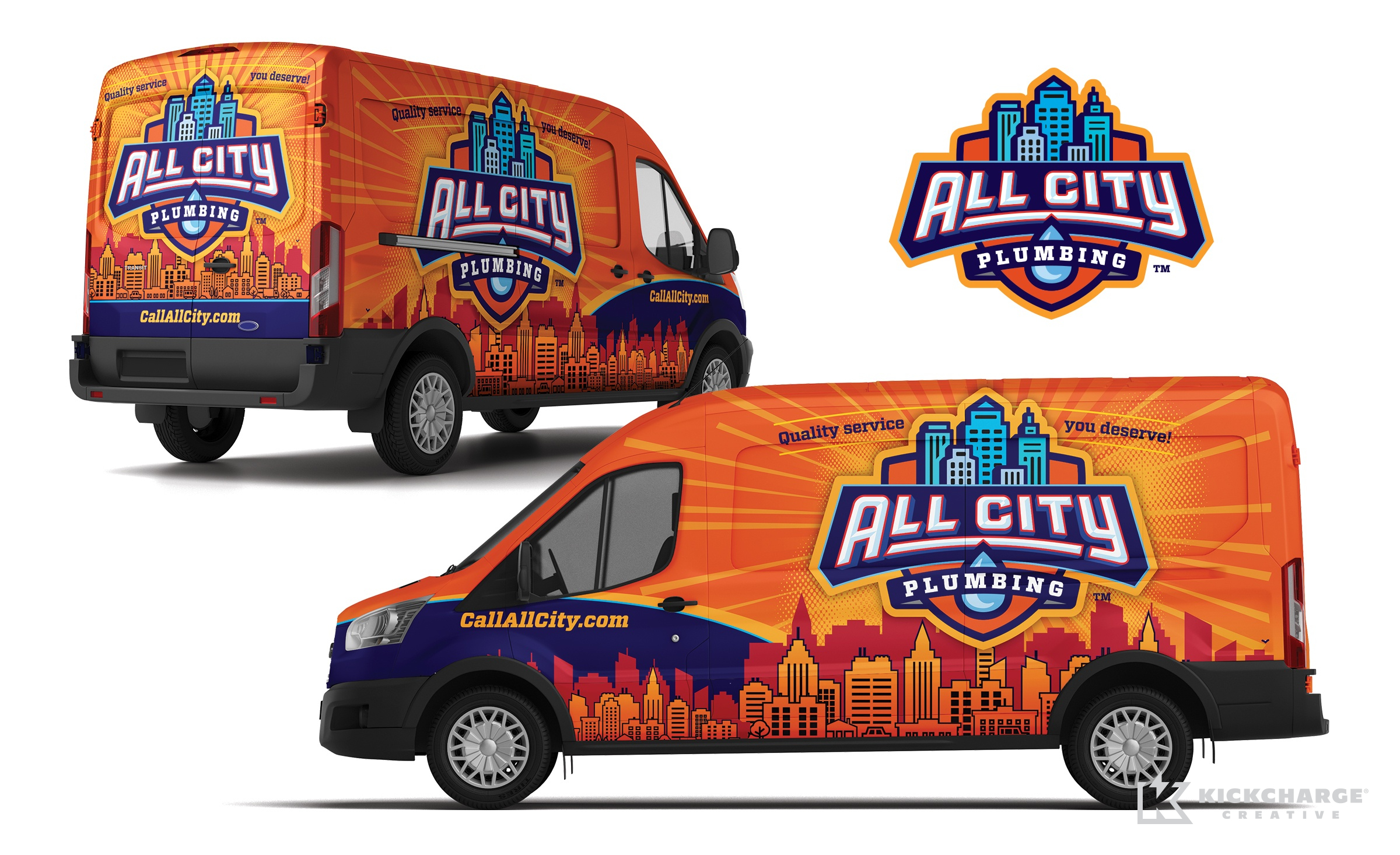 plumbing truck wrap for All City Plumbing