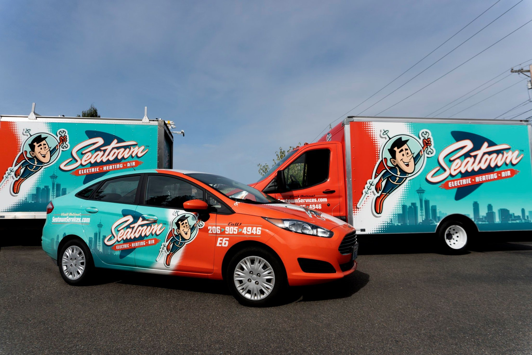 hvac truck wrap for Seatown