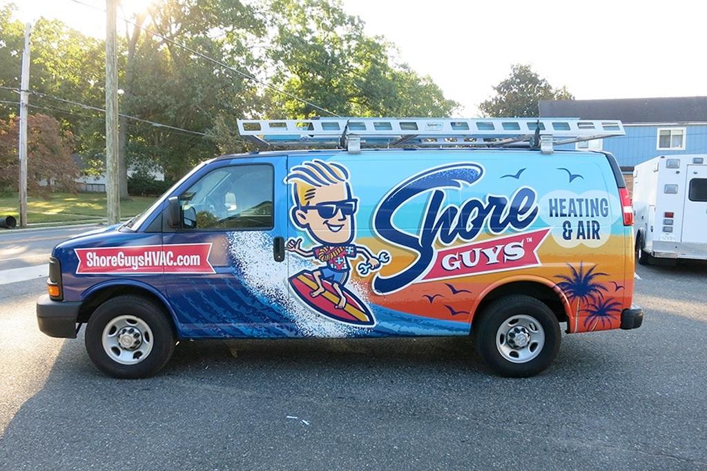 hvac truck wrap for Shore Guys Heating & Air