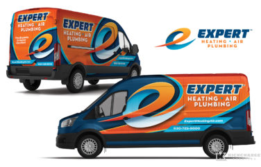 hvac truck wrap for Expert Heating, Air & Plumbing