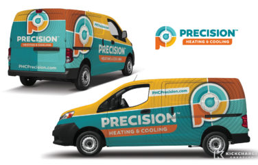hvac truck wrap for Precision Heating & Cooling
