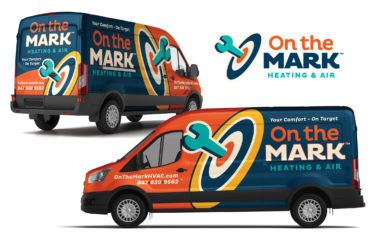 hvac truck wrap for On the Mark Heating & Air