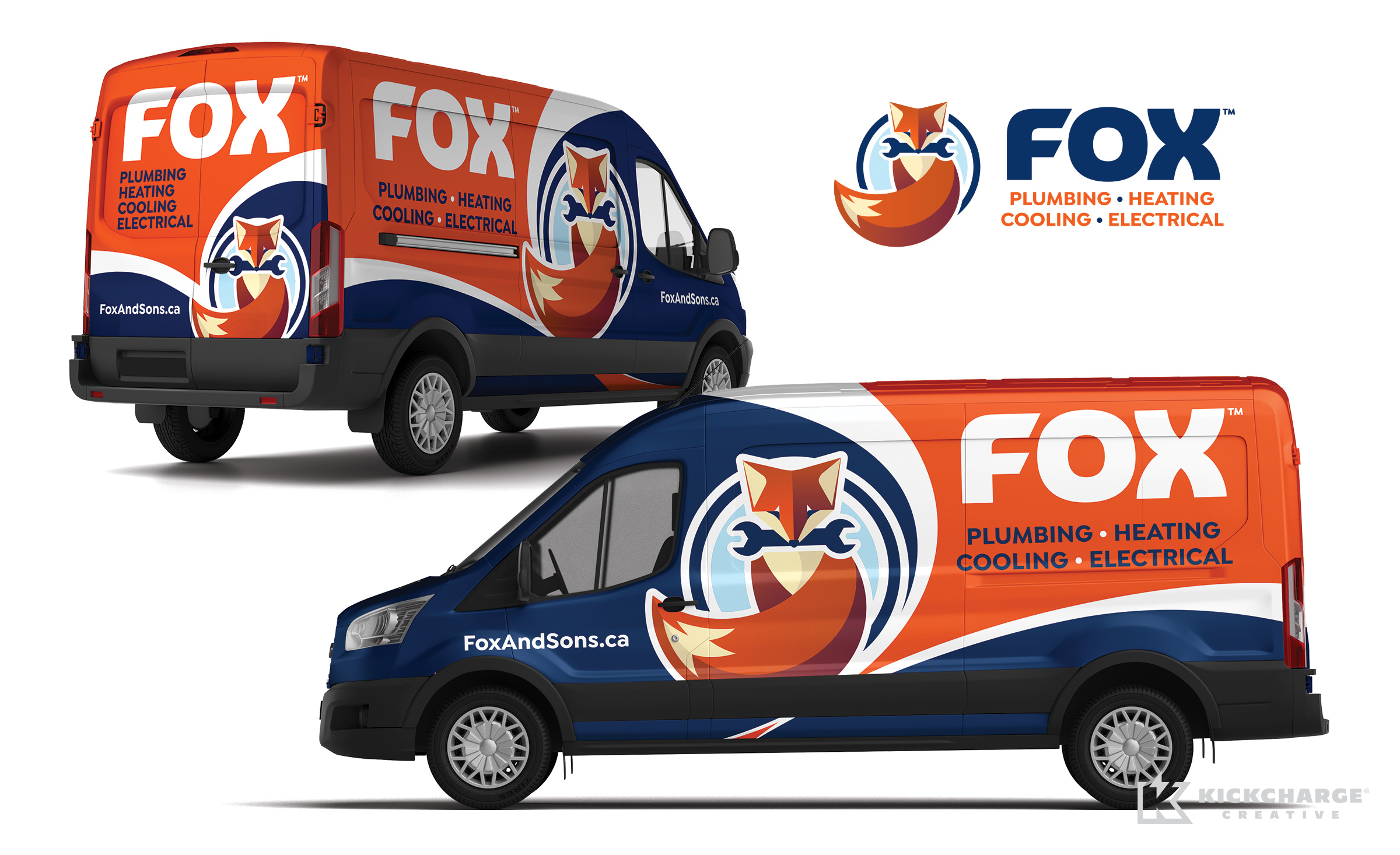 plumbing and hvac truck wrap for Fox