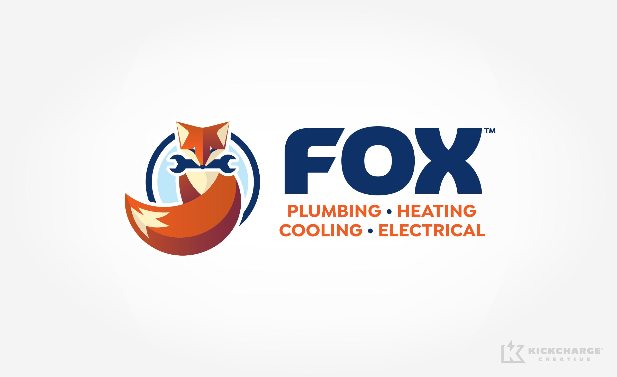 plumbing and hvac logo for Fox