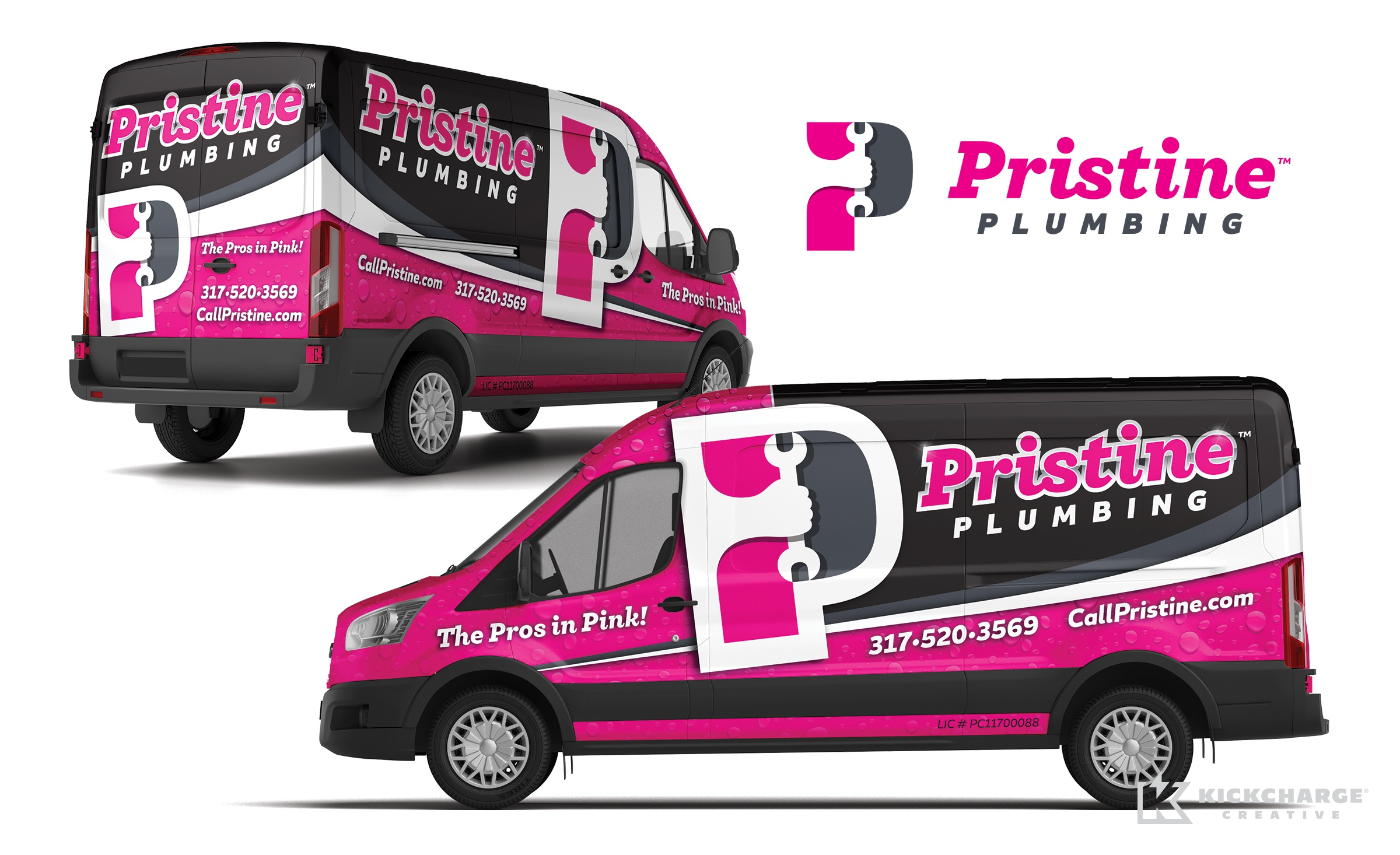 plumbing truck wrap for Pristine Plumbing