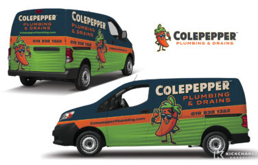 plumbing truck wrap for Colepepper Plumbing & Drains