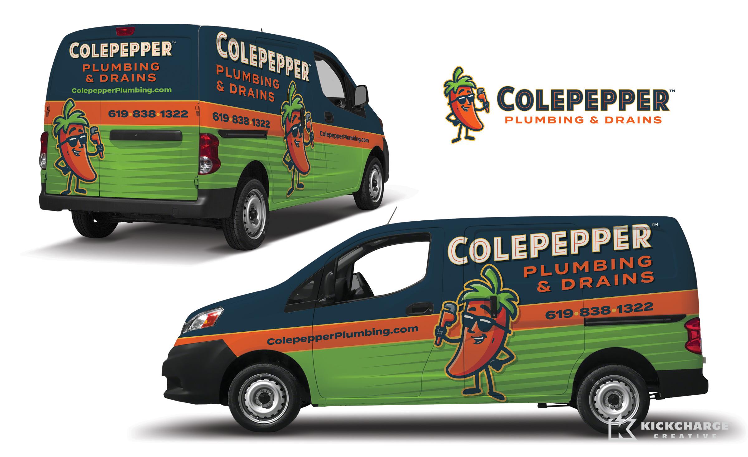 plumbing truck wrap for Colepepper Plumbing & Drains
