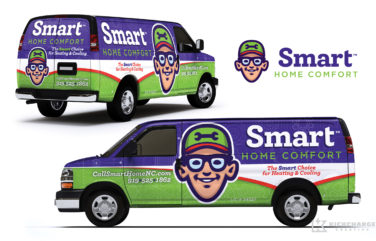 hvac truck wrap for Smart Home Comfort