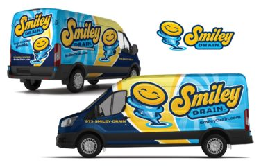 plumbing truck wrap for Smiley Drain