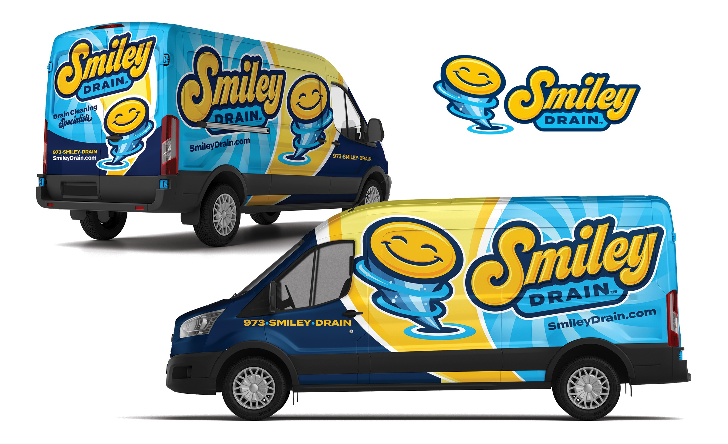 plumbing truck wrap for Smiley Drain
