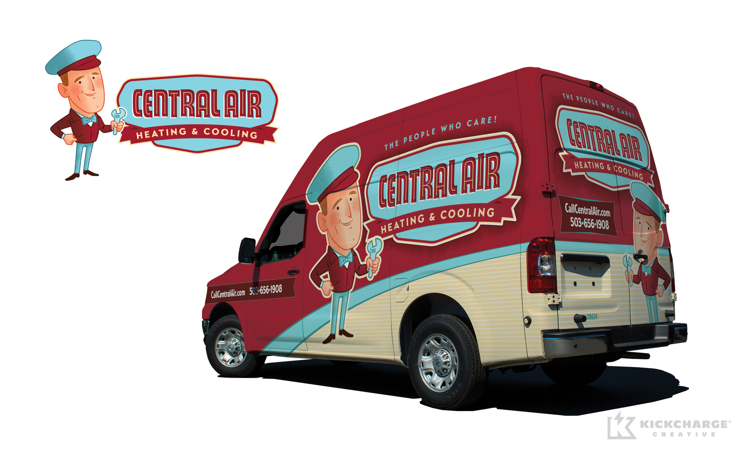 hvac truck wrap for Central Air Heating & Cooling