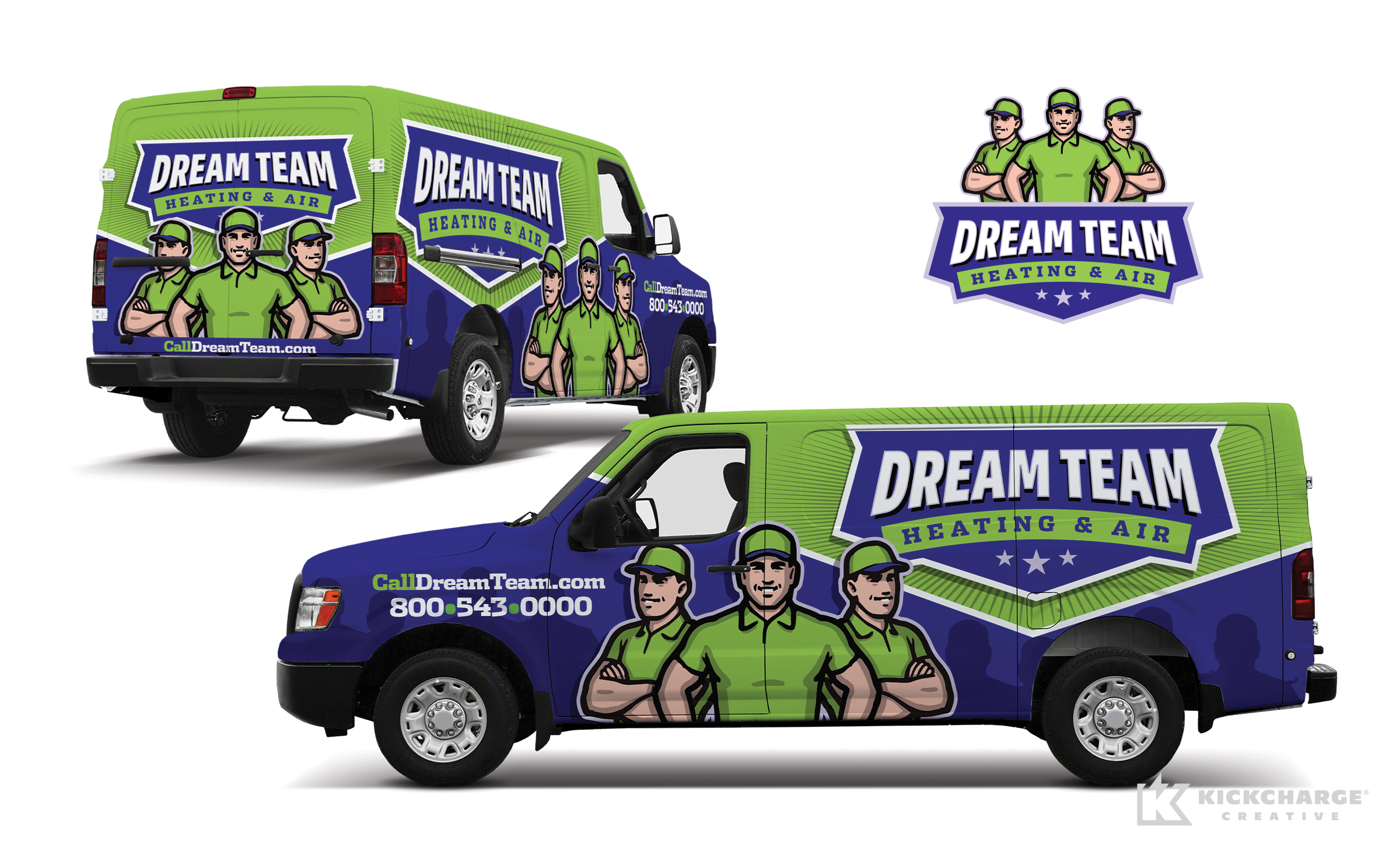 hvac truck wrap for Dream Team Heating & Air