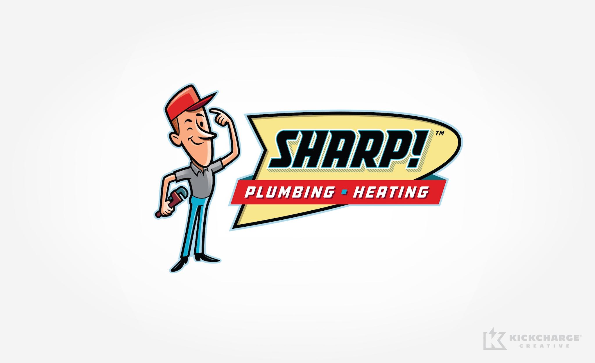 plumbing logo for Sharp! Plumbing