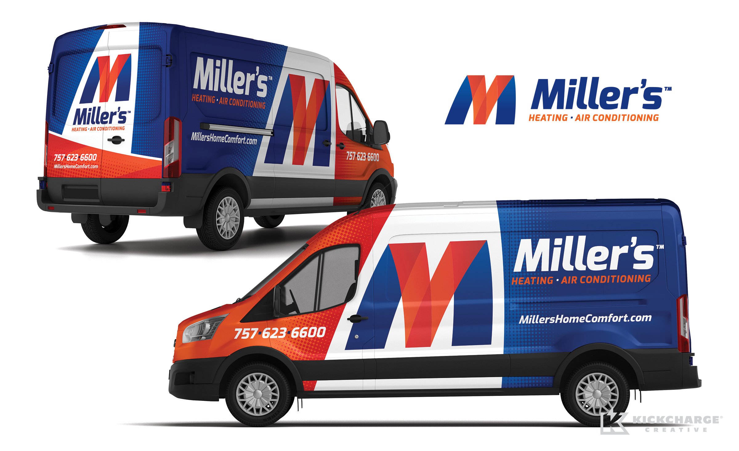 hvac truck wrap for Miller's Heating & Air Conditioning