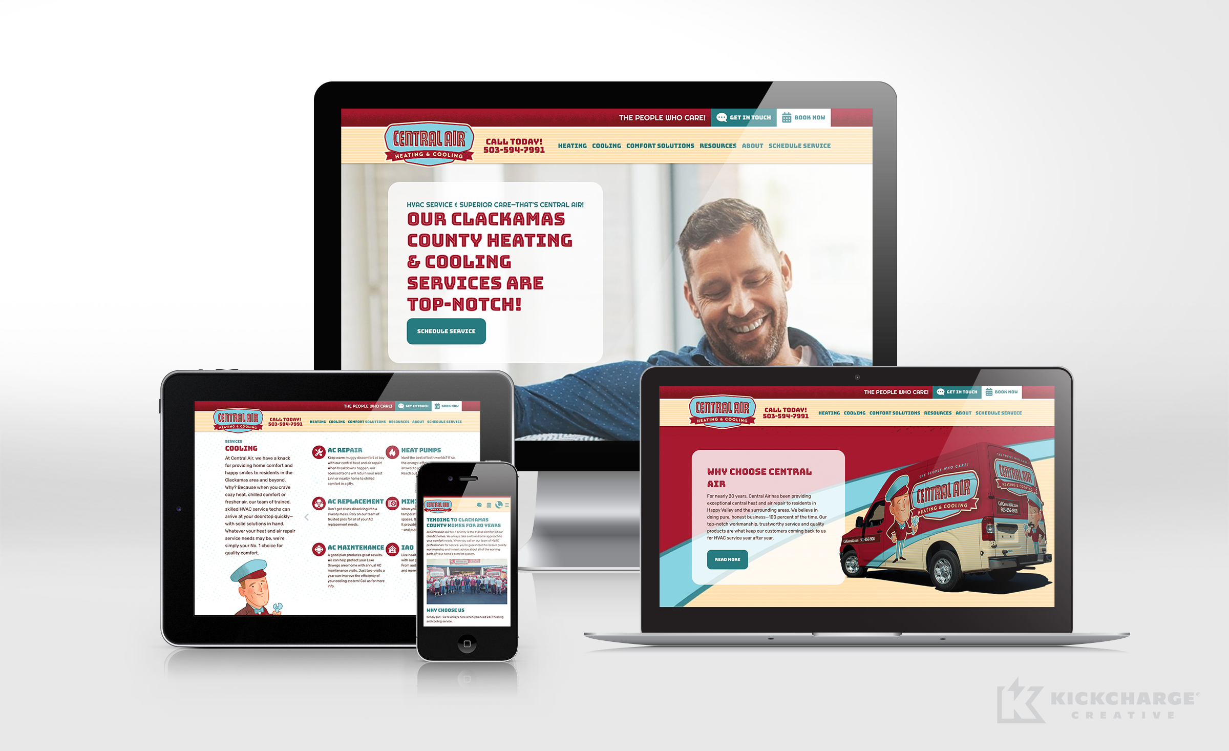 hvac website for Central Air Heating & Cooling