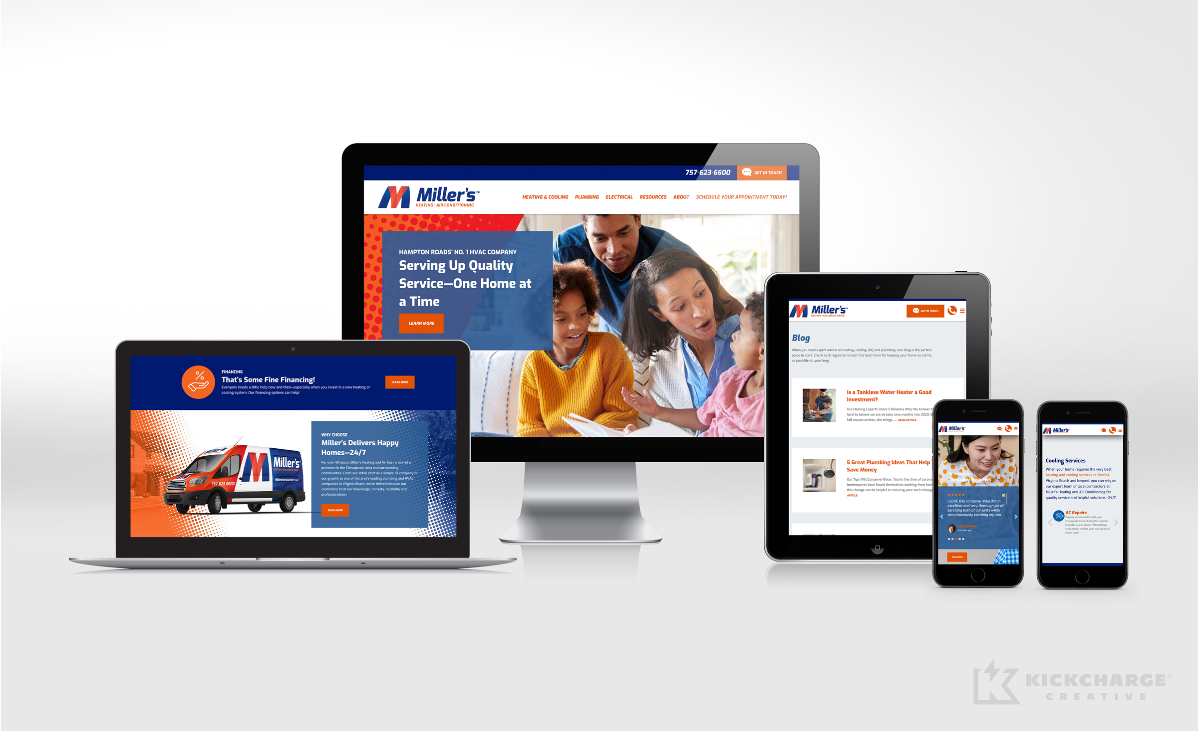 hvac website for Miller's Heating & Air Conditioning