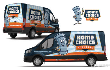 plumbing truck wrap for Home Choice Plumbing