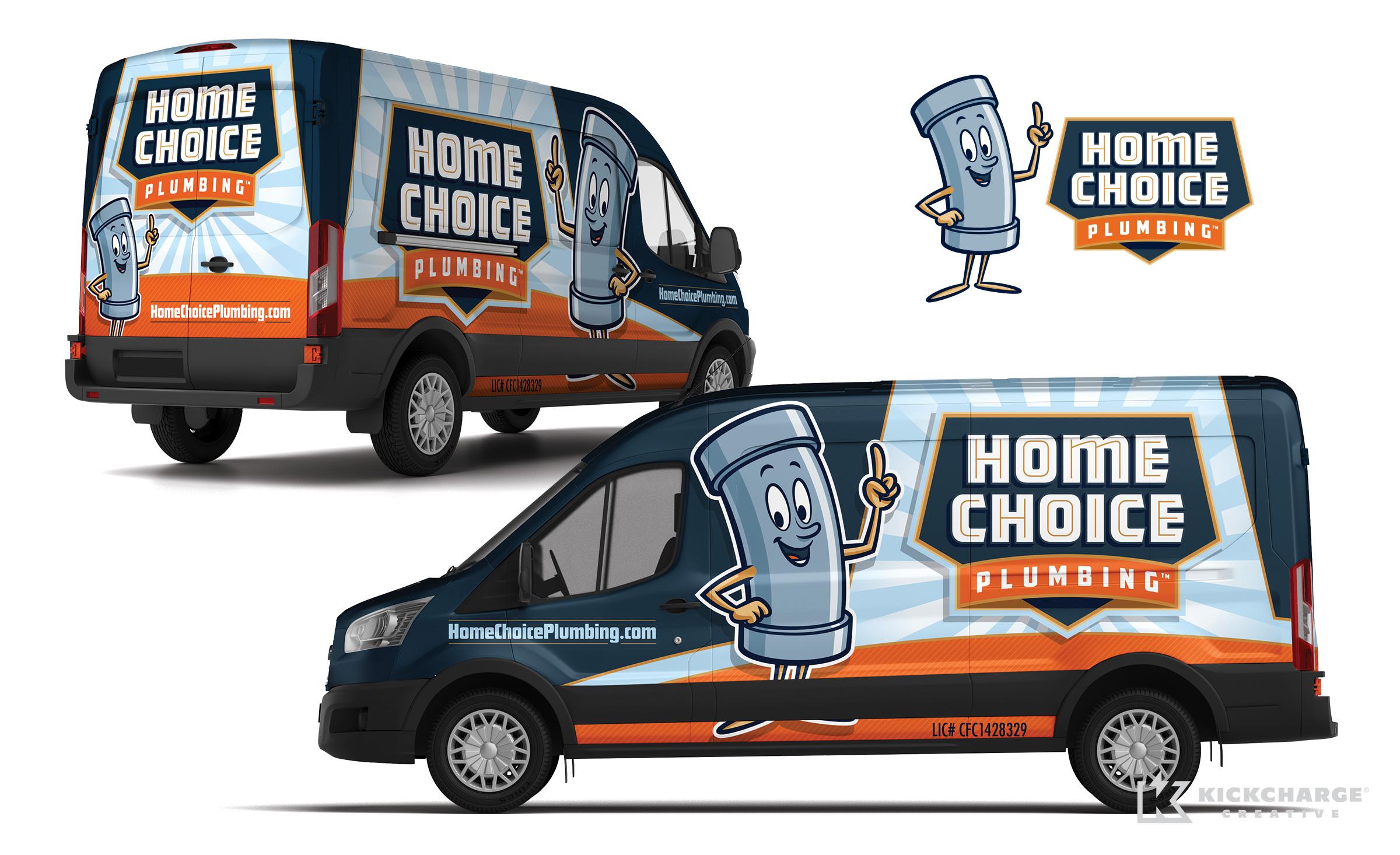plumbing truck wrap for Home Choice Plumbing