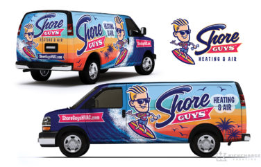 hvac truck wrap for Shore Guys Heating & Air