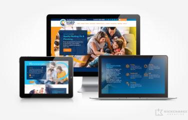 hvac and plumbing website for Complete Comfort