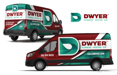 plumbing truck wrap for Dwyer