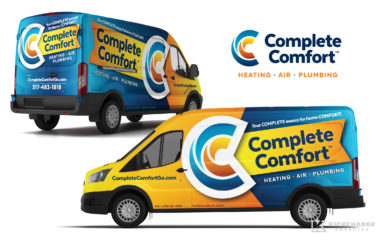 hvac truck wrap for Complete Comfort