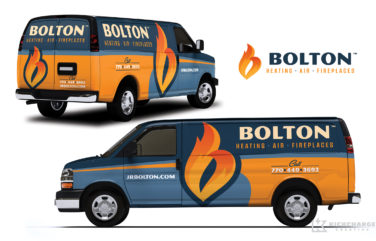 hvac truck wrap for Bolton