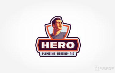 plumbing and hvac logo for Hero