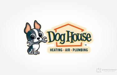 hvac and plumbing logo for Dog House