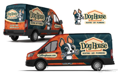 hvac truck wrap for Dog House