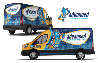 plumbing truck wrap for Advanced Plumbing Systems Truck Wrap