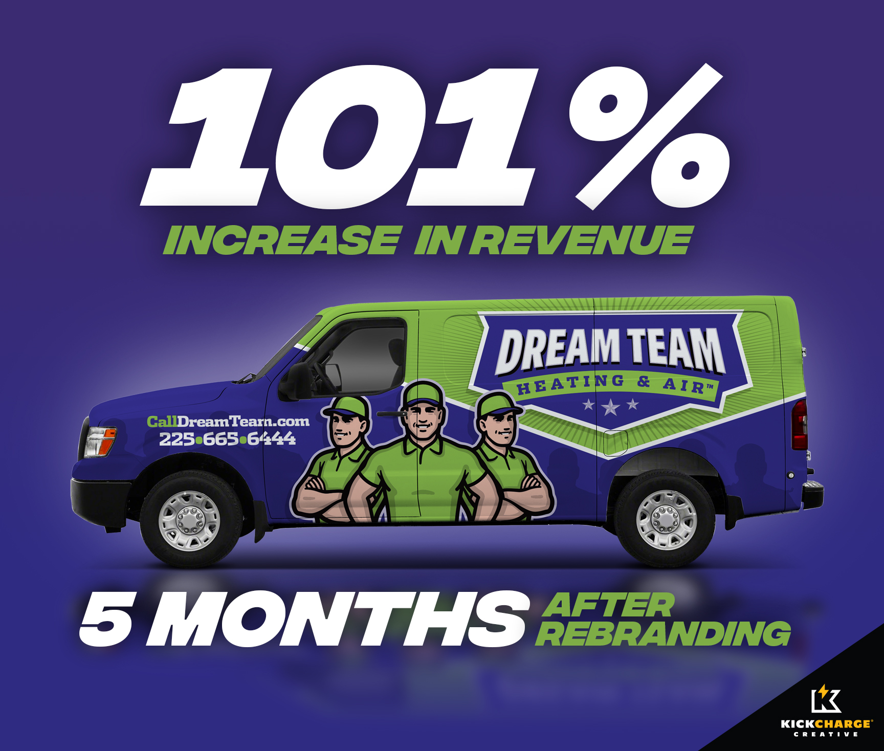 Dream Team Heating & Air Best Truck Wrap