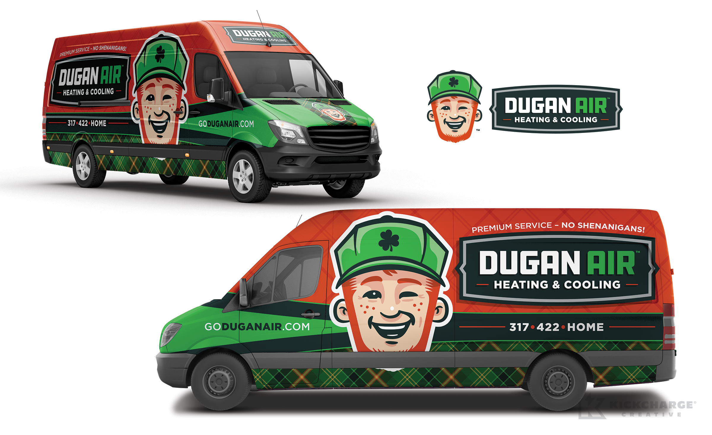 hvac truck wrap for Dugan Air