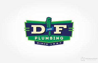 plumbing logo for D And F Plumbing