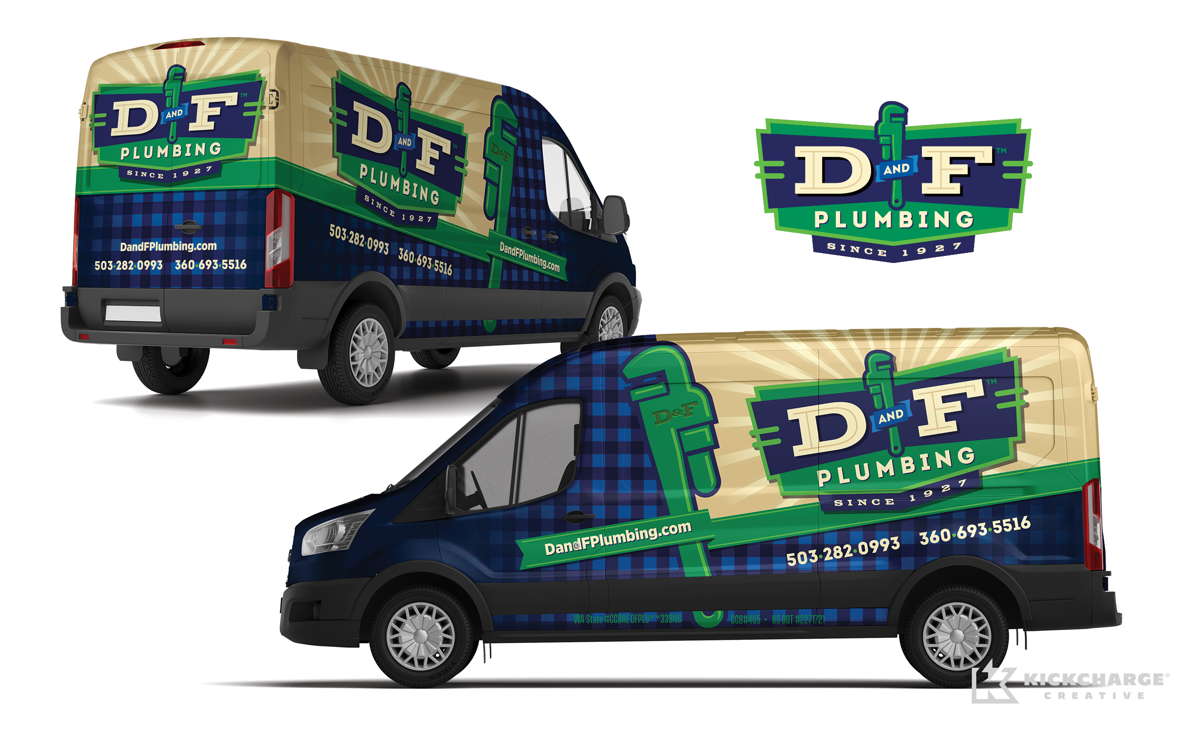 plumbing truck wrap for D And F Plumbing
