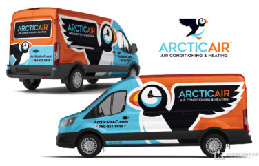hvac truck wrap for Arctic Air