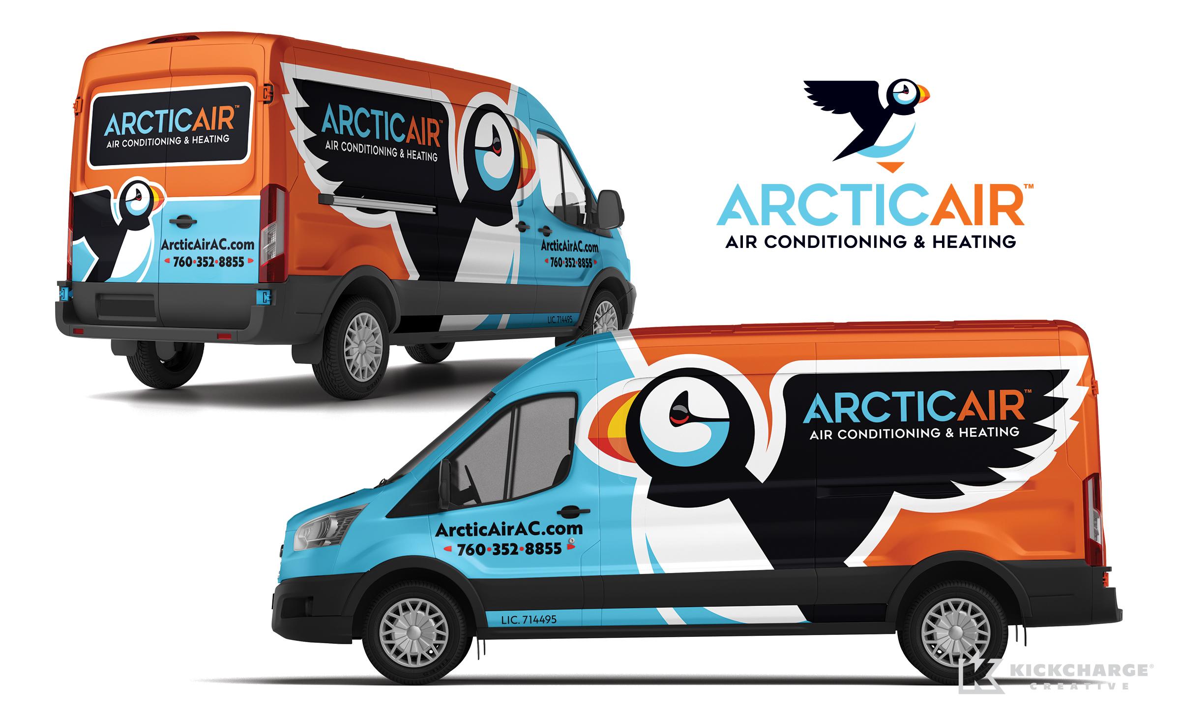 hvac truck wrap for Arctic Air