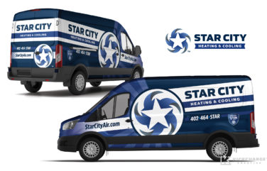 hvac truck wrap for Star City