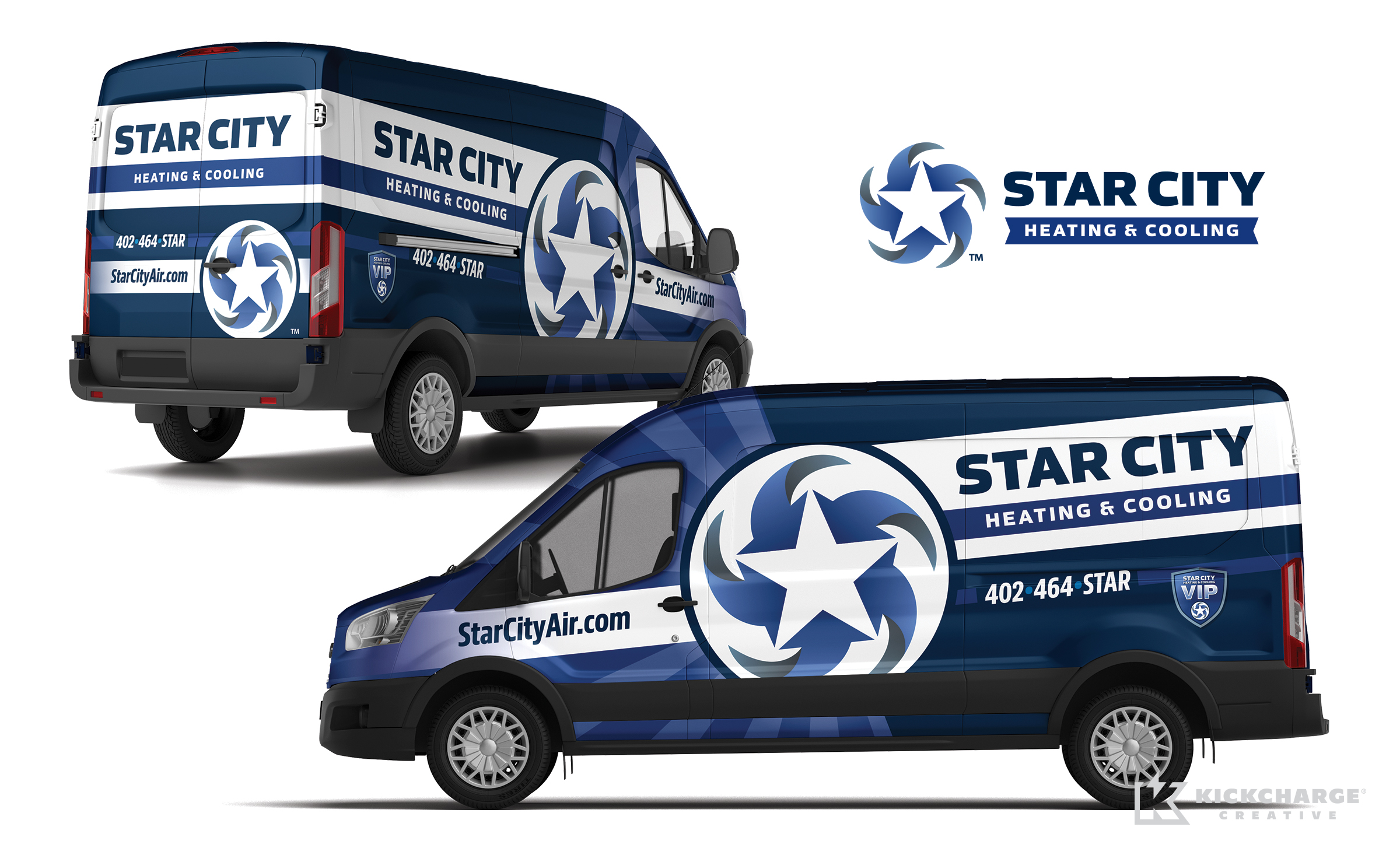 hvac truck wrap for Star City