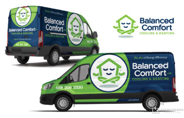 hvac truck wrap for balanced comfort