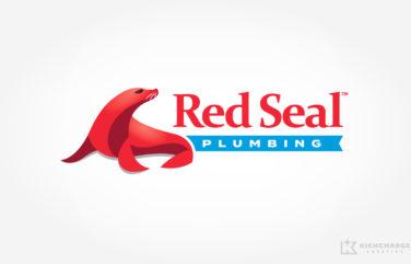 plumbing logo for red seal plumbing