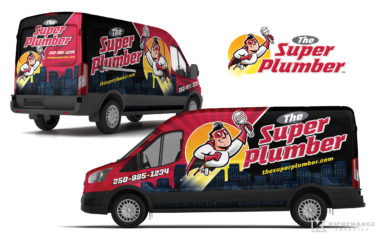 plumbing truck wrap for the super plumber