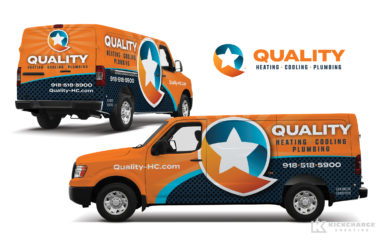 hvac truck wrap for Quality Heating, Cooling & Plumbing