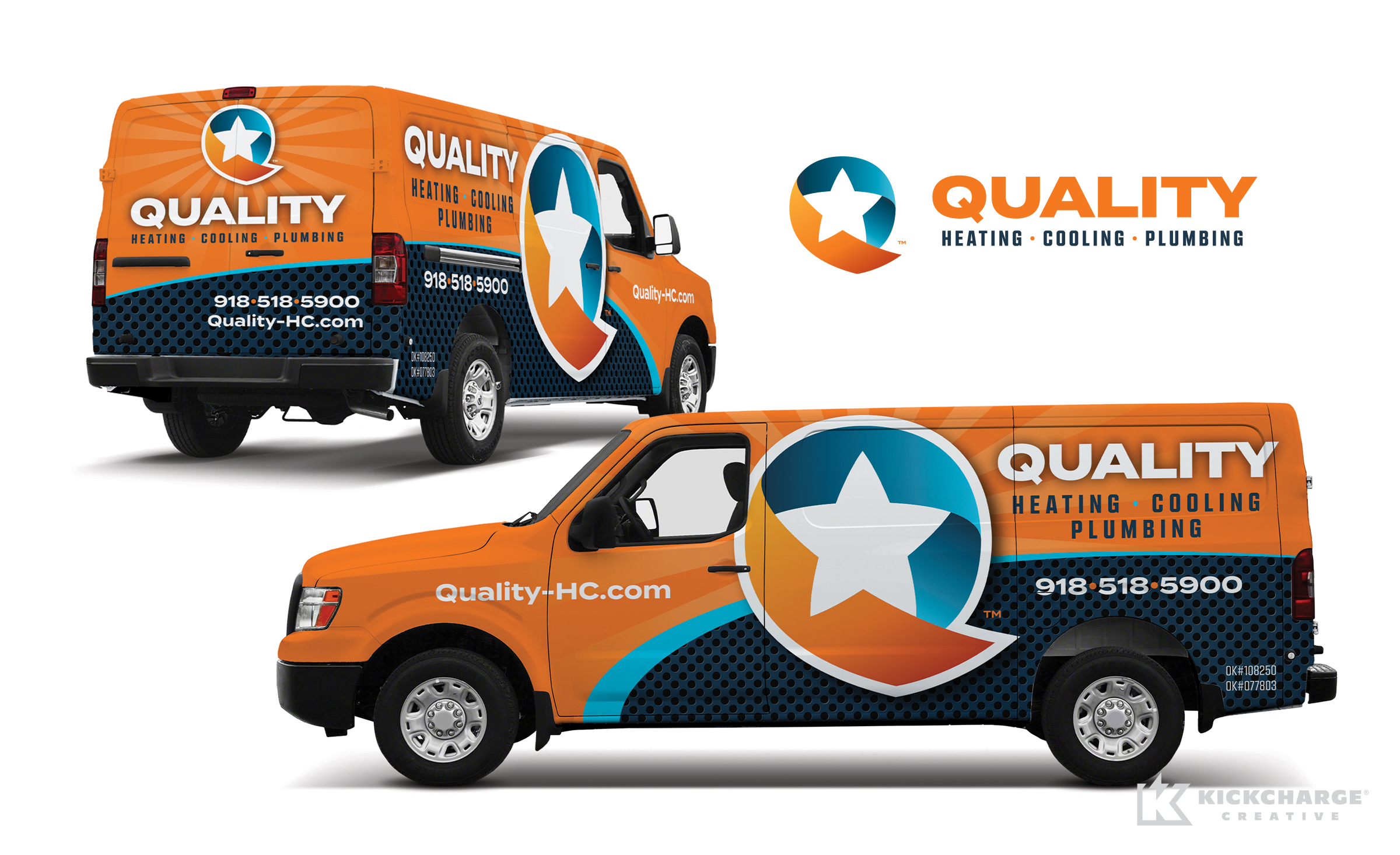 hvac and plumbing truck wrap for Quality Heating, Cooling & Plumbing