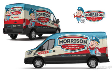 plumbing truck wrap for Morrison Plumbing, Heating & Air