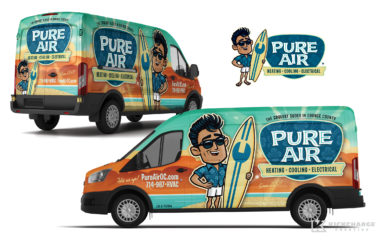 hvac truck wrap for Pure Air
