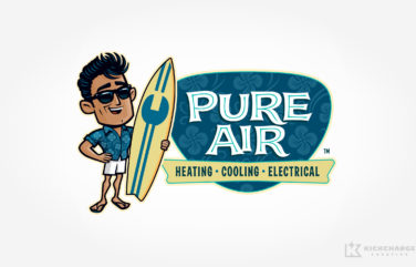 hvac logo for Pure Air