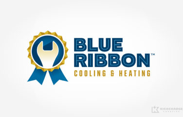 hvac logo for blue ribbon
