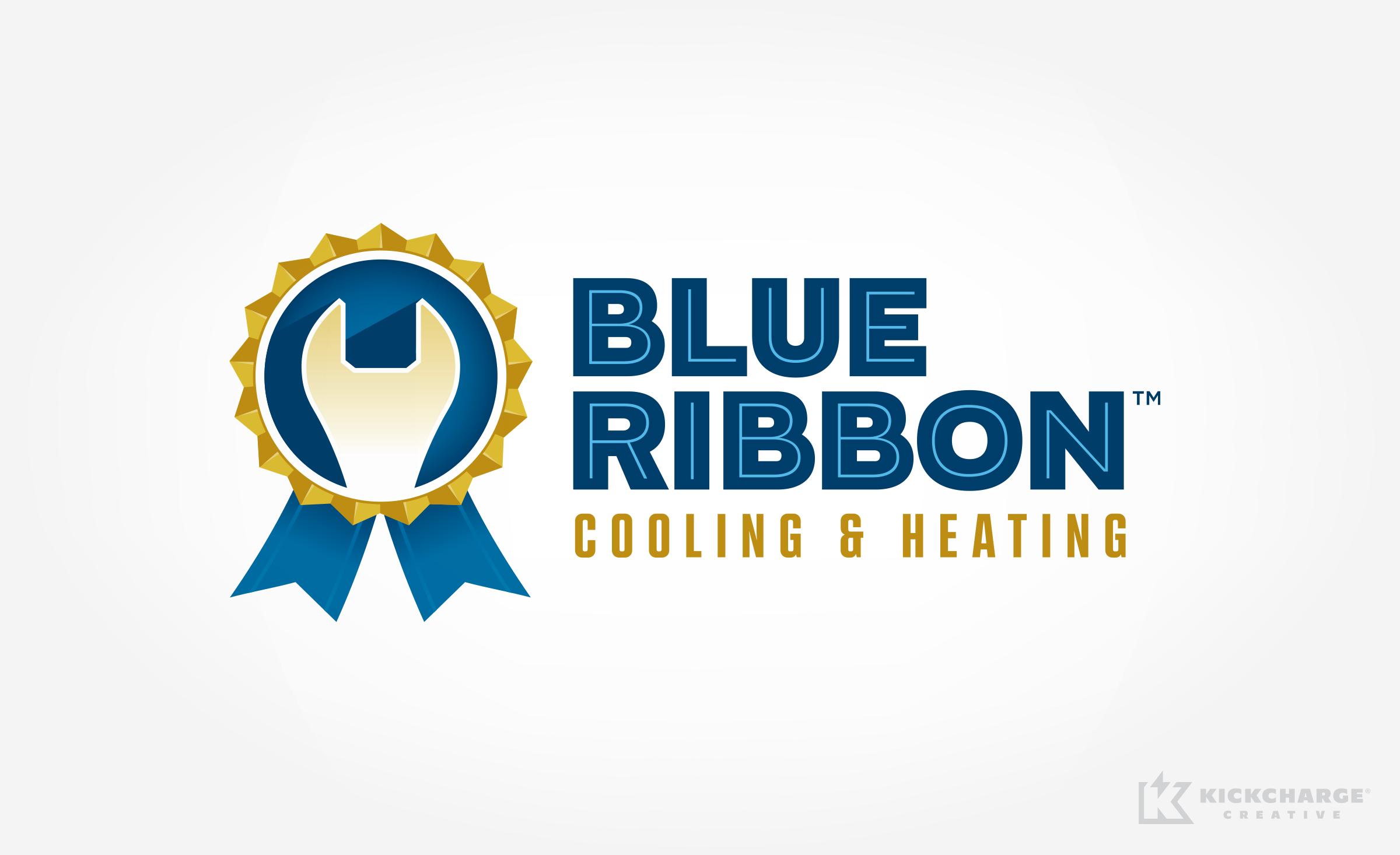 hvac logo for blue ribbon