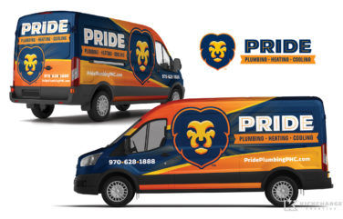 hvac and plumbing truck wrap for Pride Plumbing, Heating & Cooling